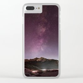 Milky Way Landscape Clear iPhone Case