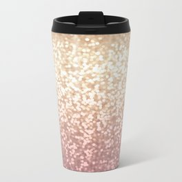 Champagne Gold Blush Pink Glittery Ombre Pattern #society6 Metal Travel Mug