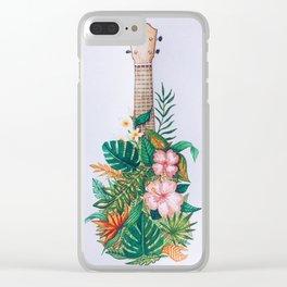 Tropical Ukulele Clear iPhone Case