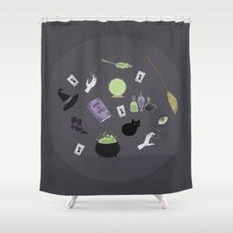 Witchy Woman Print Shower Curtain