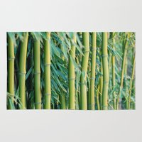 bamboo Area & Throw Rugs featuring Bamboo by Laura Ruth