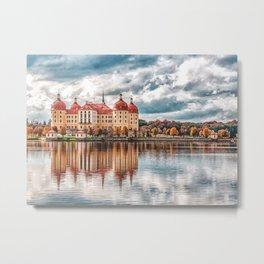 Fairytale Castle Moritzburg Dresden Germany Metal Print