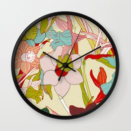 floral pattern vintage Wall Clock