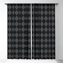Argyle -Dark Grey Blackout Curtain