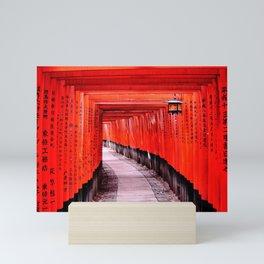 Through the Gates (Kyoto, Japan) Mini Art Print