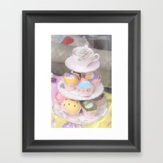 Cupcake Tower Framed Art Print