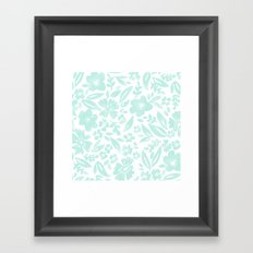 Stamp Floral Pattern Framed Art Print