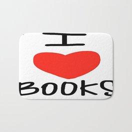 I Love Books Bath Mat