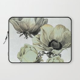 anemone flowers (white background) Laptop Sleeve
