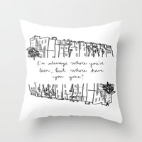 baltimore Throw Pillows featuring Baltimore by Lasafro
