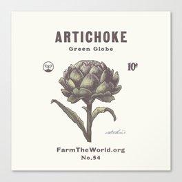 Farm the World Artichoke Seed Packet Canvas Print
