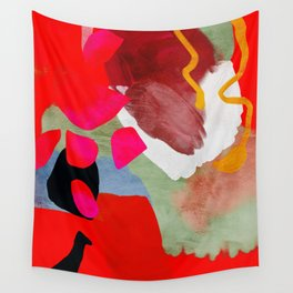 phantasy in red abstract Wall Tapestry