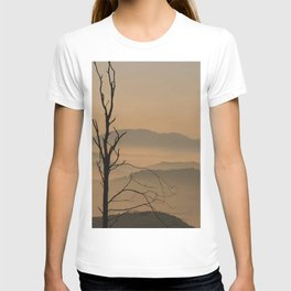 Landscape with Mountains - Tree and Fog T-shirt