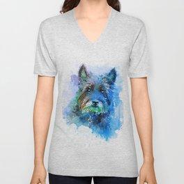 Cairn Terrier Unisex V-Neck