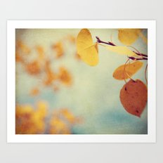 Aspen Leaves In The Wind Art Print