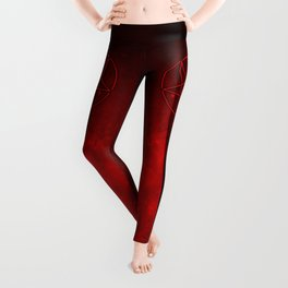 Devil Woman Pentagram Leggings