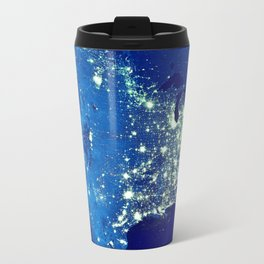 America At Night Travel Mug