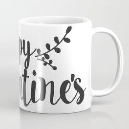 Hand Lettering Happy Valentines Coffee Mug