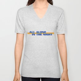All Alone In The Night Unisex V-Neck