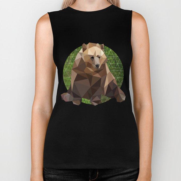 Bear in the woods Biker Tank