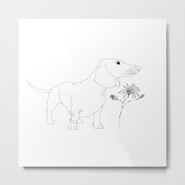 Dachshund illustration Metal Print