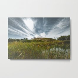 Together We Can! || Motivational Wall Art for Office. || Human Chain on a Mountain, Hill. || Inspire Metal Print