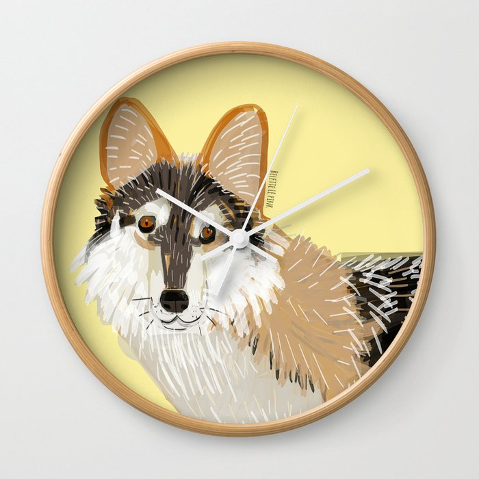 Totem Mexican Wolf Wall Clock