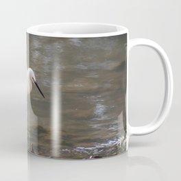white heron bird by the river Coffee Mug