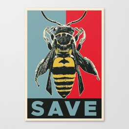 Save The Bees Canvas Print