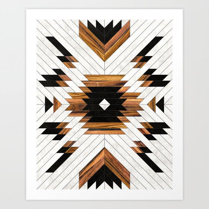 Urban Tribal Pattern No 5 Aztec Concrete And Wood Art