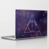 deathly hallows Laptop & iPad Skins featuring Deathly Hallows in Space by Hannah Ison