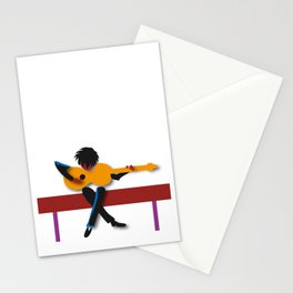 """Guitarist"" by Paulette Lust contemporary, original, colorful, whimsical, art. Stationery Cards"