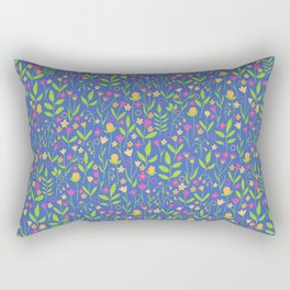 Pop Bold Playful Ditzy All Over Floral Pattern Rectangular Pillow