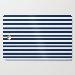 Navy-White ( Stripe Collection ) Cutting Board