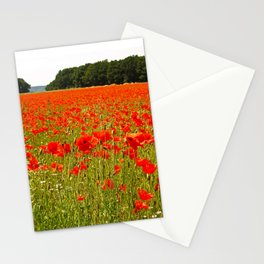 Sea of Normandy Poppies Stationery Cards