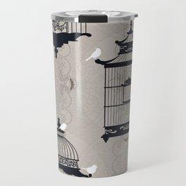 Mascara Empty Brid Cages Travel Mug