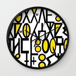 ancient languagaes Wall Clock