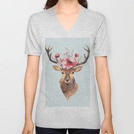 Bohemian Deer 2 Unisex V-Neck