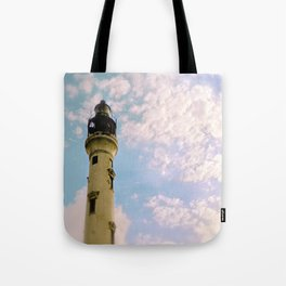 Cloudy at the Lighthouse Tote Bag