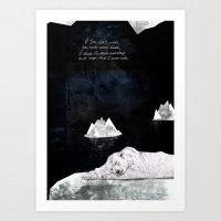 polar bear Art Prints featuring Polar Bear by Sandra Dieckmann