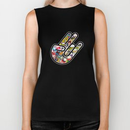 Shocker Stickerbomb Biker Tank