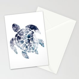 Sea Turtle - Blue Ocean Waves Stationery Cards