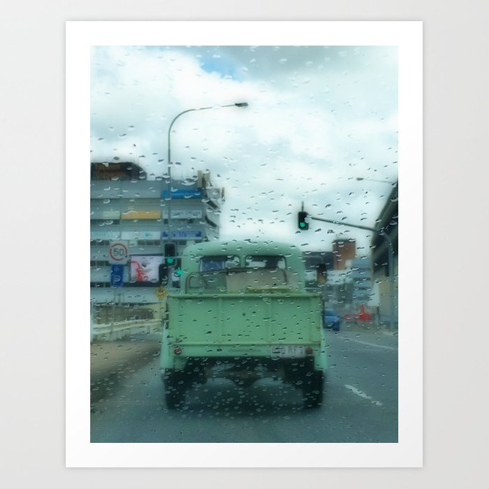 Rainy Days and Vintage Vehicles Art Print