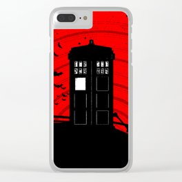 Tardis Halloween Clear iPhone Case