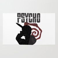 american psycho Area & Throw Rugs featuring Psycho by Vickn