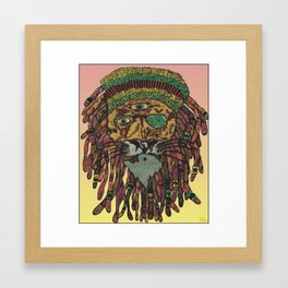 Zombie lion king Framed Art Print