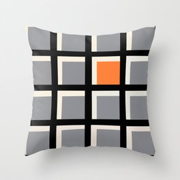 'Geo-grid' Throw Pillow