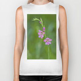 Beauty in nature, wildflower Gladiolus illyricus Biker Tank