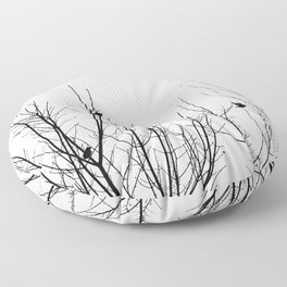 Birds on Branches Floor Pillow