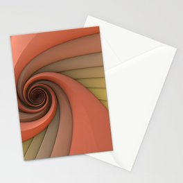 Spiral in Earth Tones Stationery Cards